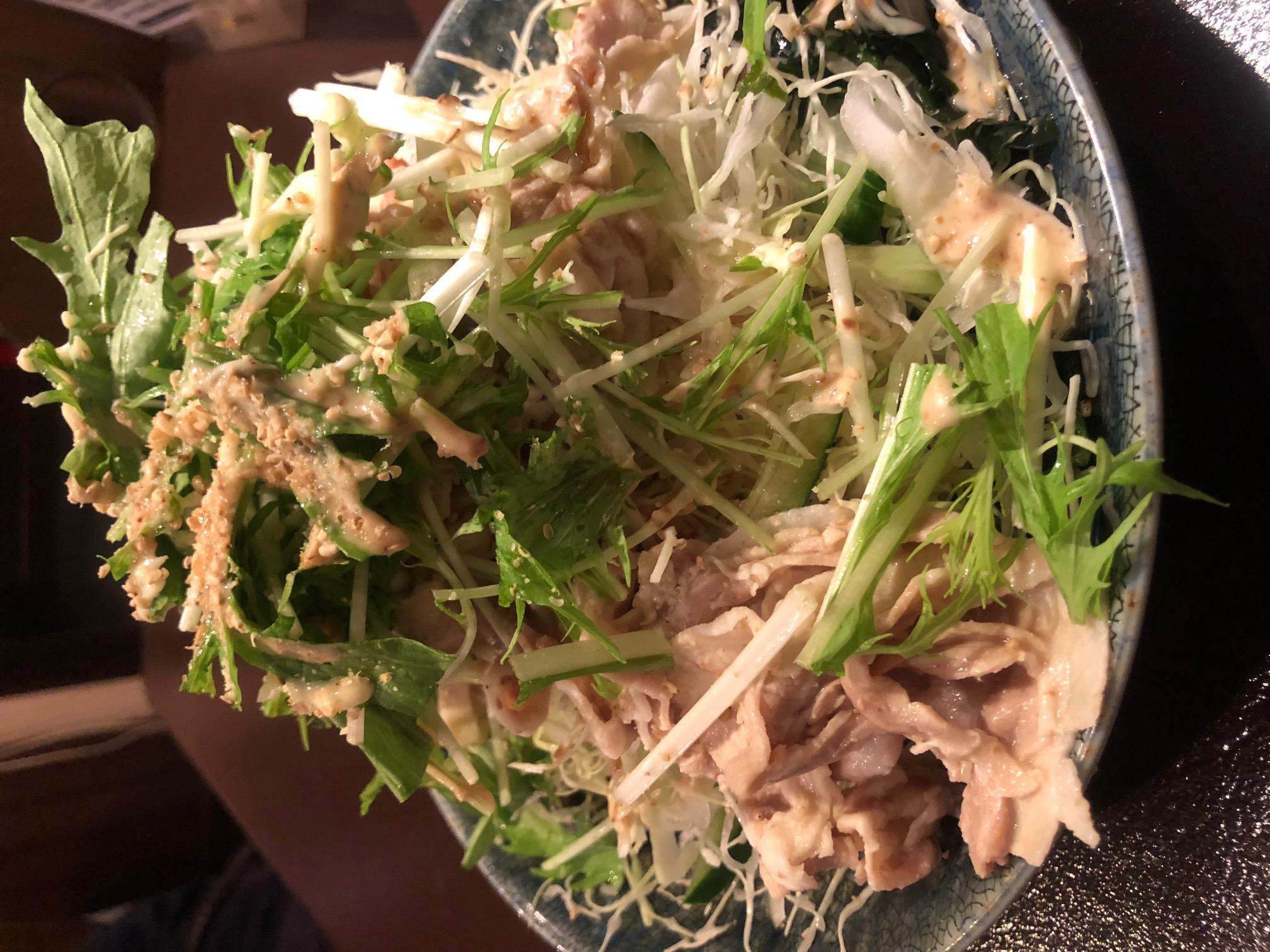 豚しゃぶ豆腐サラダ