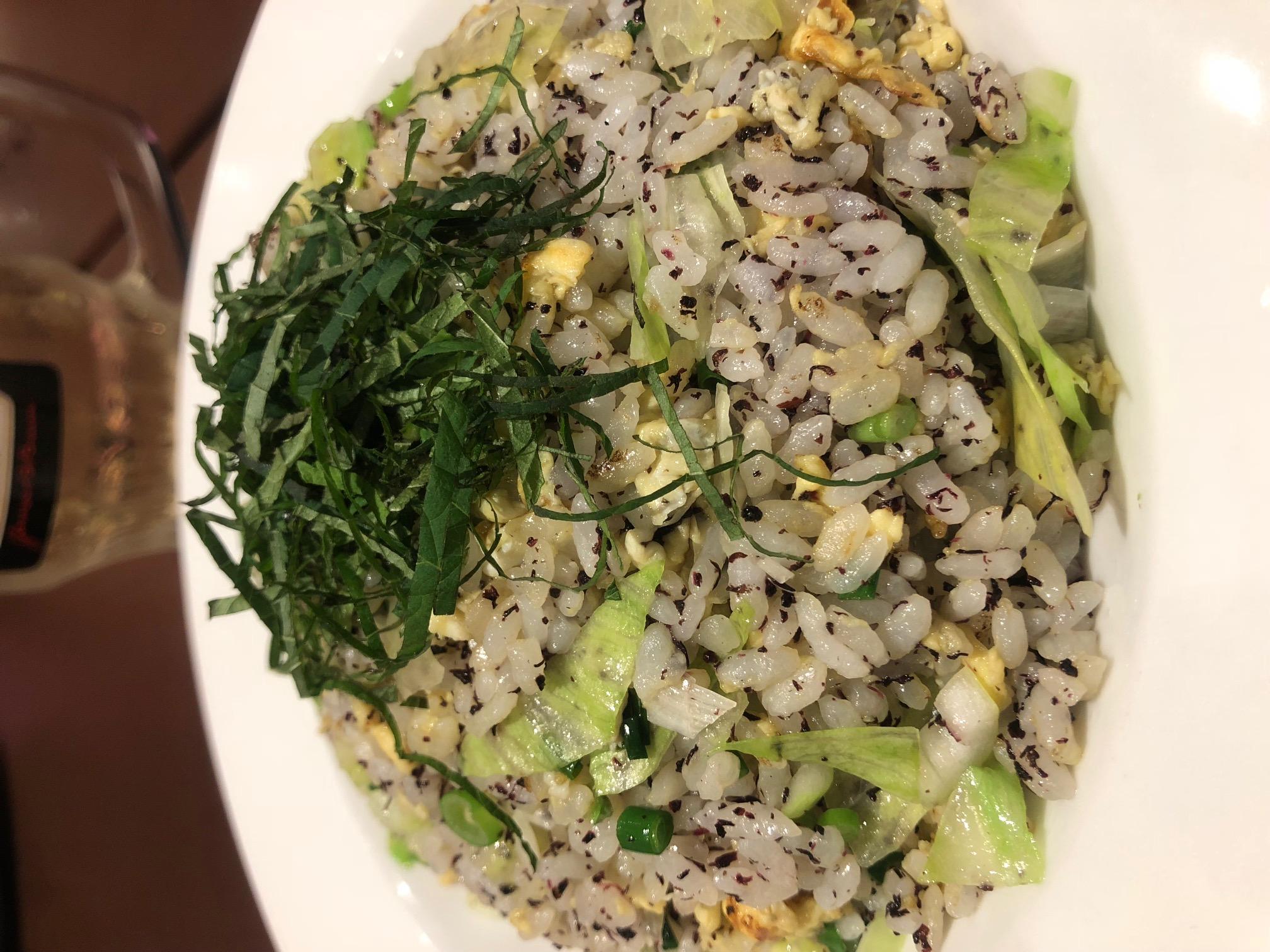 紫蘇レタス炒飯